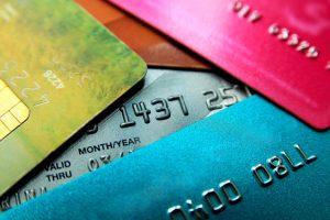 Stack of credit cards: Manage credit card debt