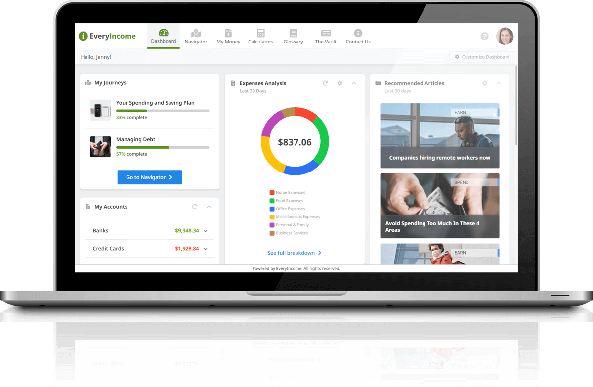 EveryIncome Dashboard